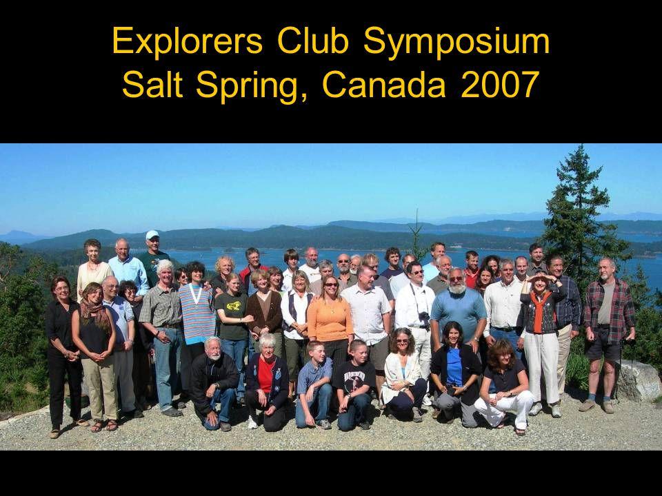 Explorers Club Symposium Salt Spring, Canada 2007