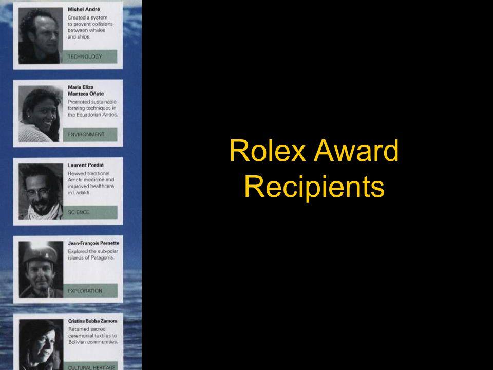 Rolex Award Recipients