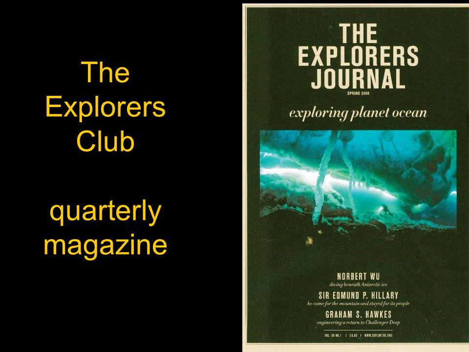The Explorers Club quarterly magazine