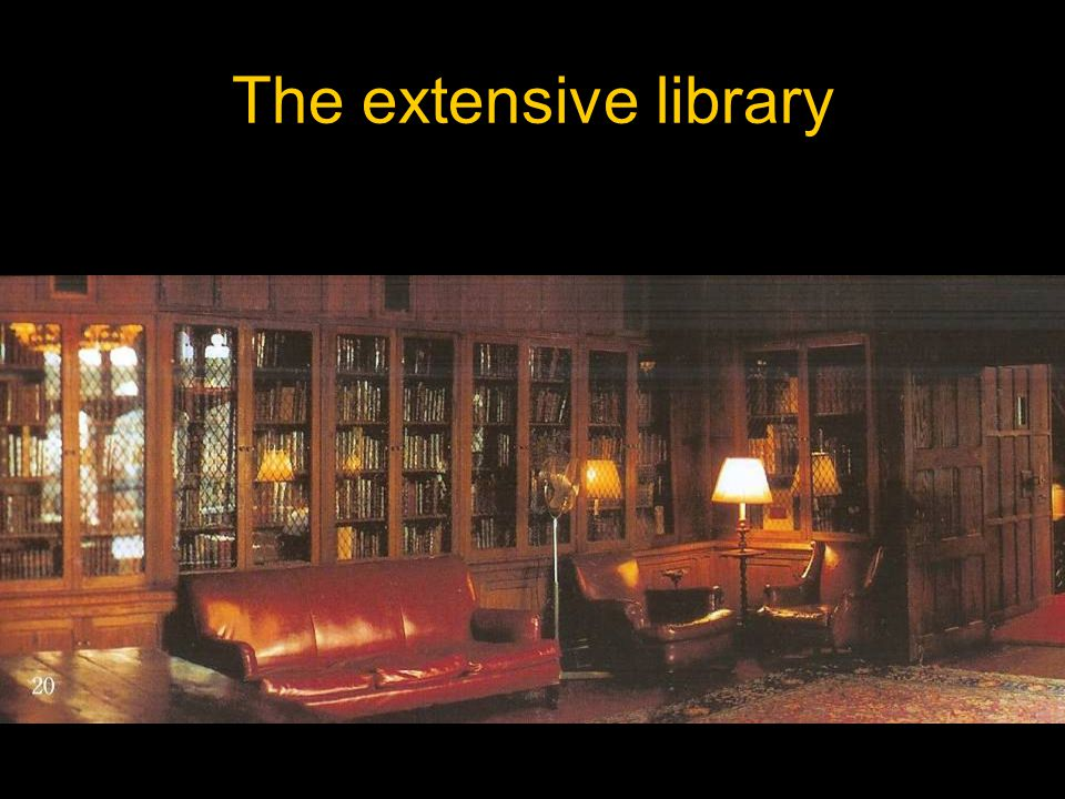 The extensive library