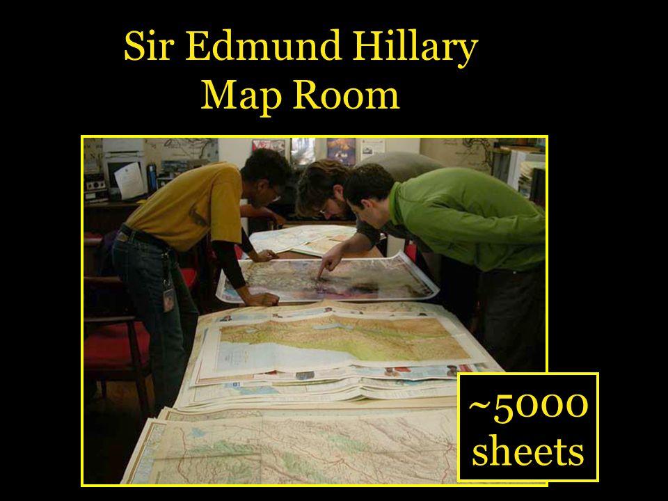 Sir Edmund Hillary Map Room ~5000 sheets