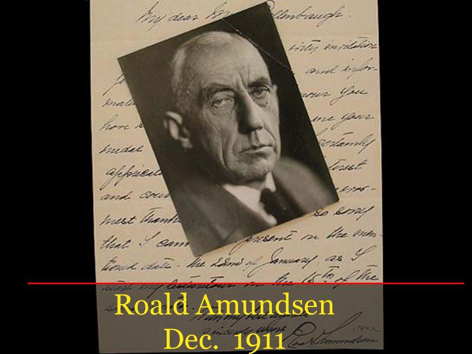Roald Amundsen Dec. 1911