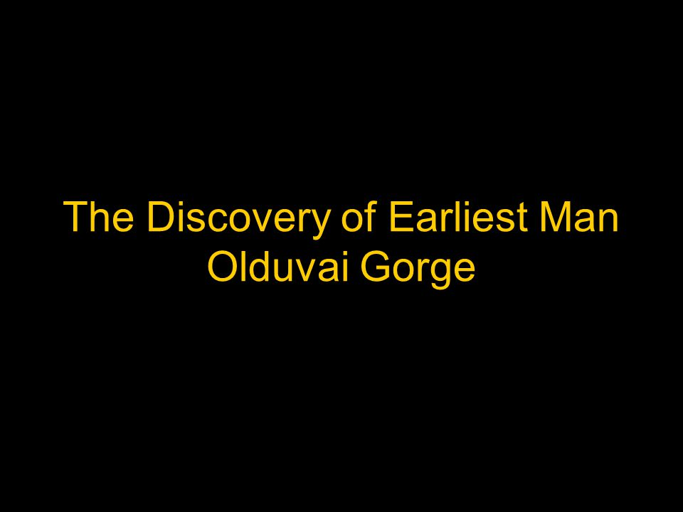 The Discovery of Earliest Man Olduvai Gorge