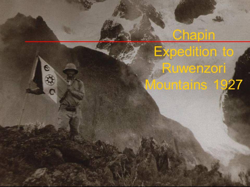 Chapin Expedition to Ruwenzori Mountains 1927