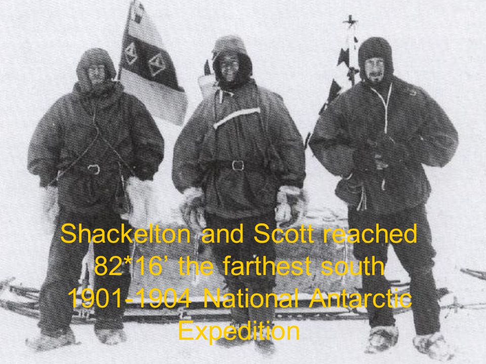 Shackelton and Scott reached 82