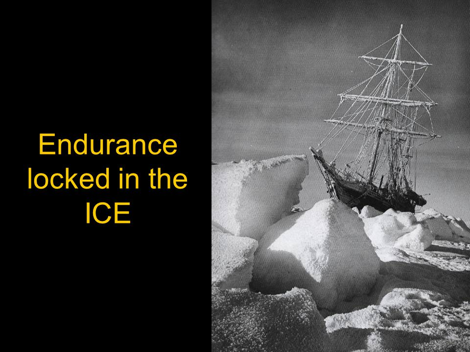 Endurance locked in the ICE