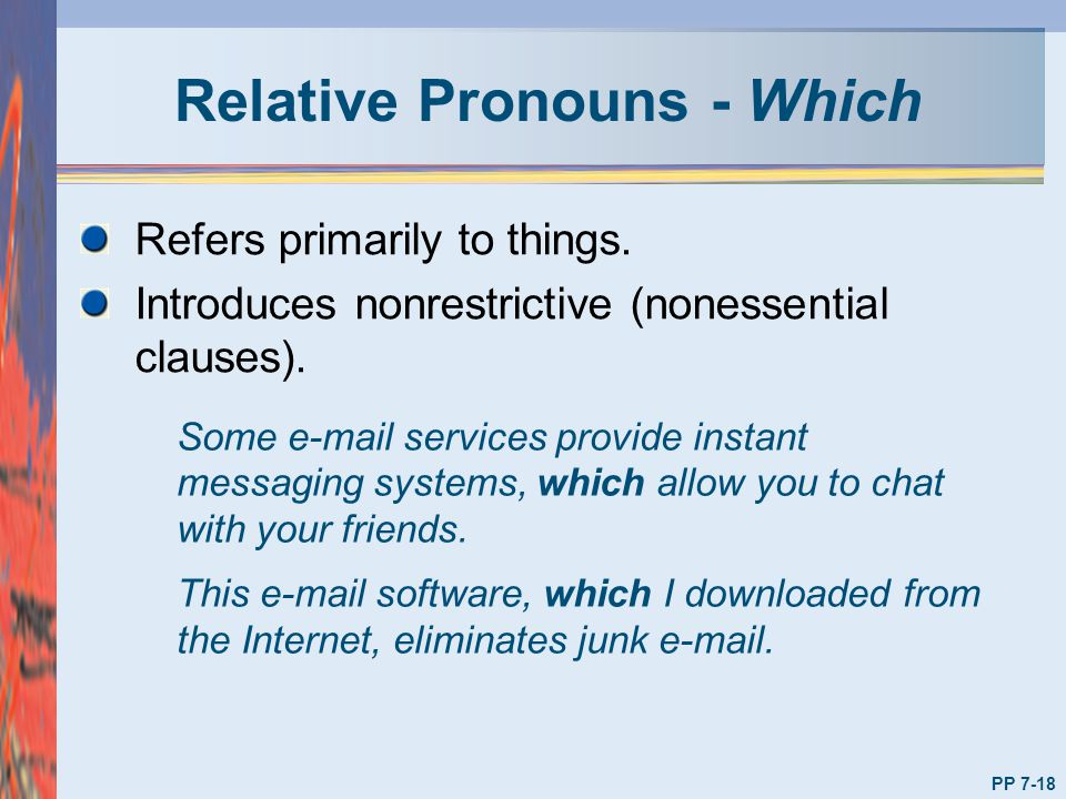 Relative Pronouns - Which