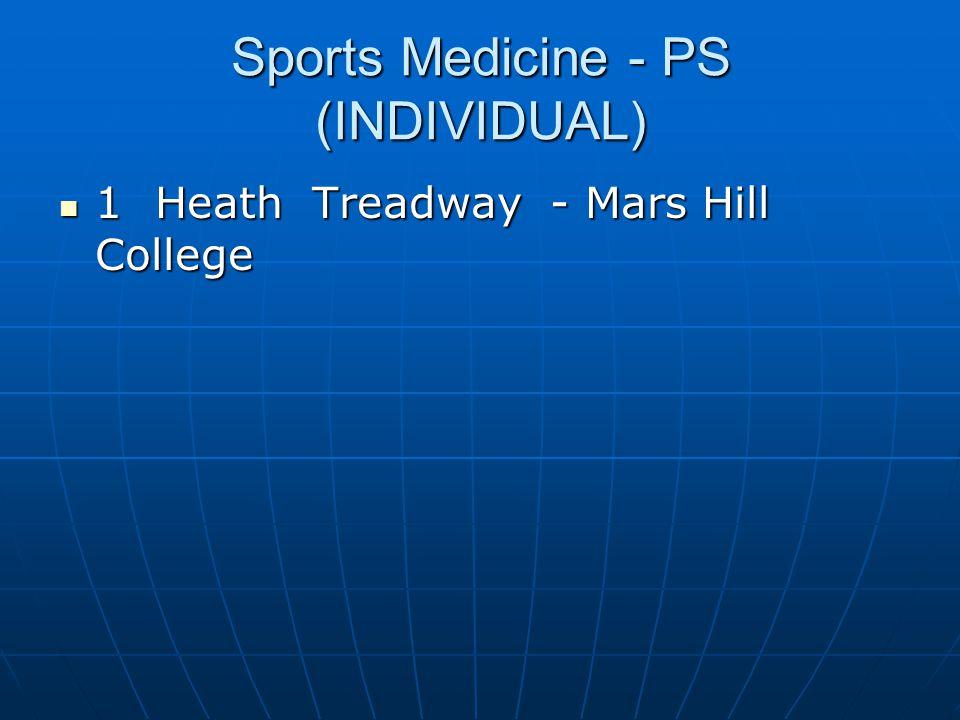 Sports Medicine - PS (INDIVIDUAL)