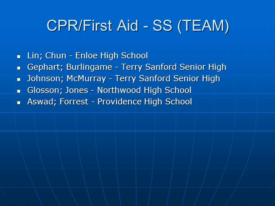 CPR/First Aid - SS (TEAM)