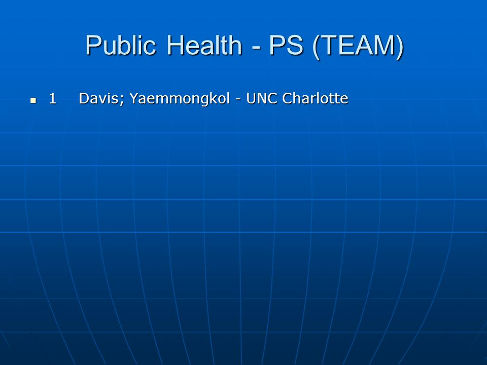Public Health - PS (TEAM)