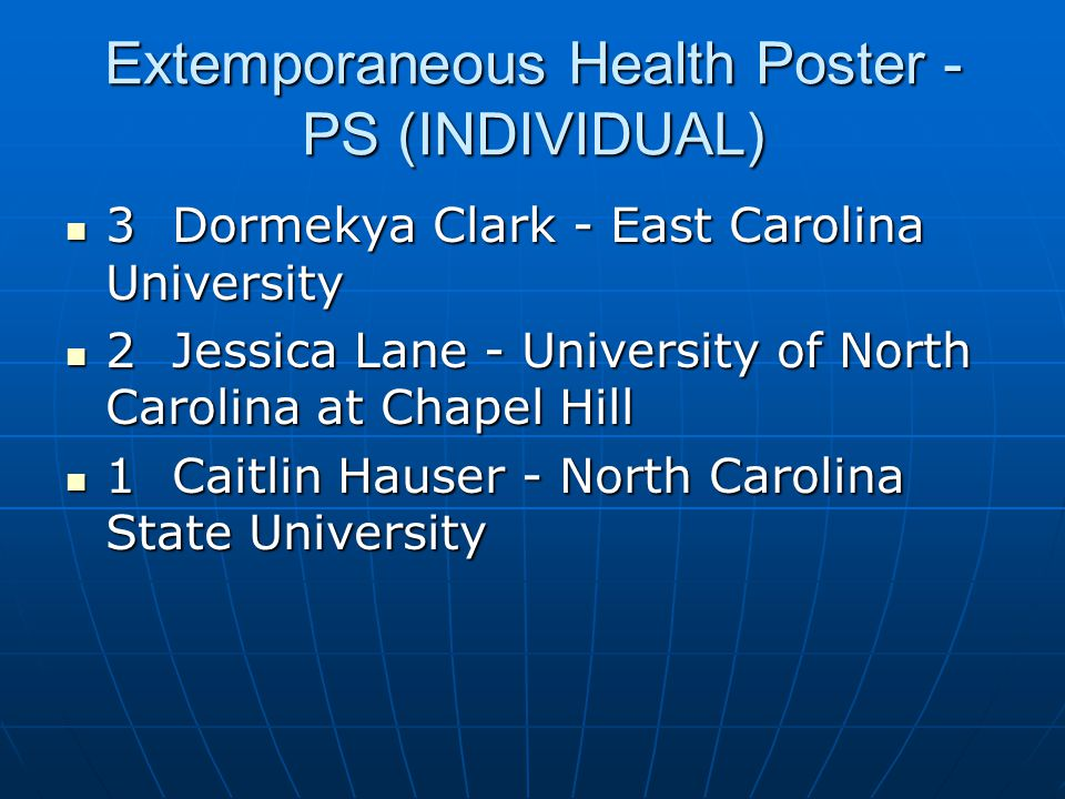 Extemporaneous Health Poster - PS (INDIVIDUAL)