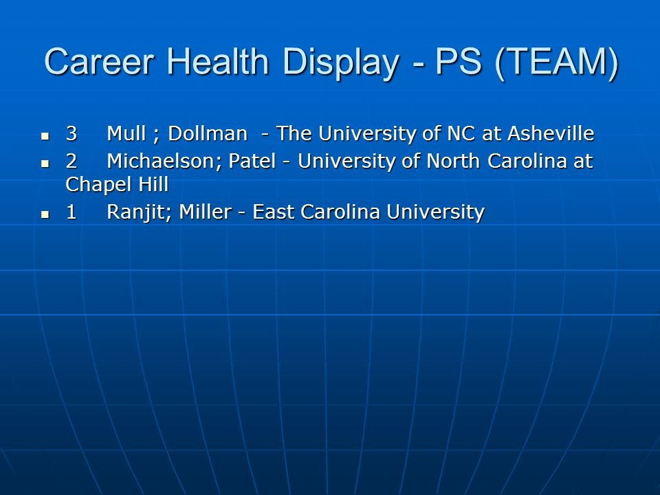 Career Health Display - PS (TEAM)