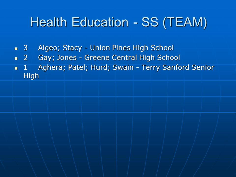 Health Education - SS (TEAM)