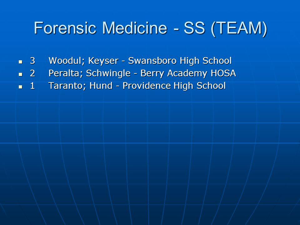 Forensic Medicine - SS (TEAM)