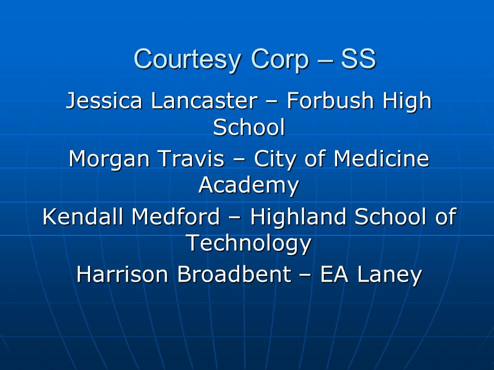 Courtesy Corp – SS Jessica Lancaster – Forbush High School