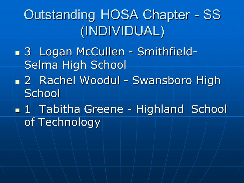 Outstanding HOSA Chapter - SS (INDIVIDUAL)