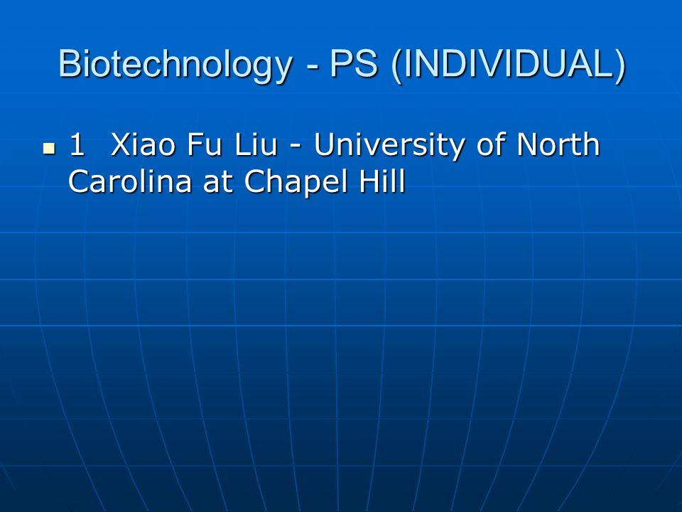 Biotechnology - PS (INDIVIDUAL)