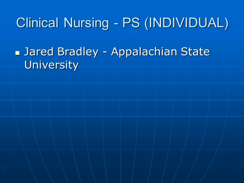 Clinical Nursing - PS (INDIVIDUAL)