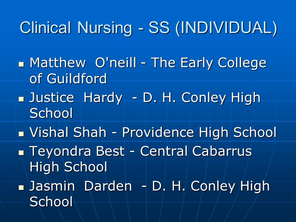Clinical Nursing - SS (INDIVIDUAL)