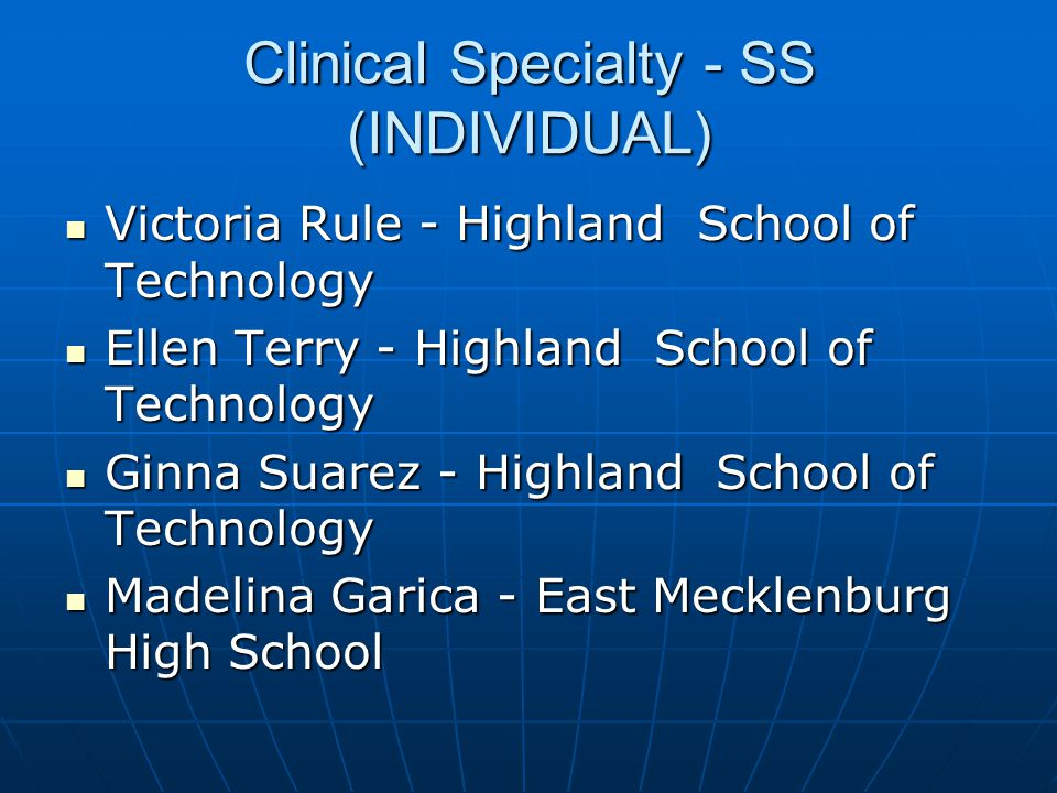 Clinical Specialty - SS (INDIVIDUAL)