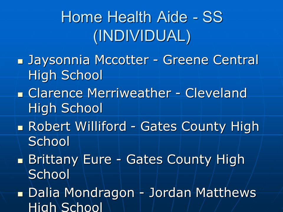 Home Health Aide - SS (INDIVIDUAL)