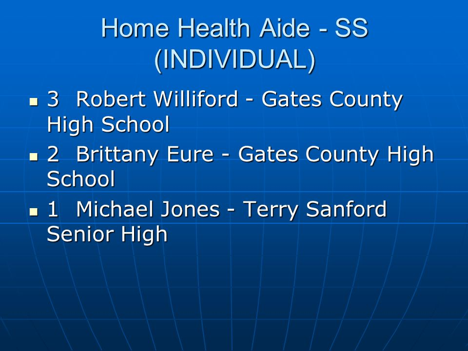Home Health Aide - SS (INDIVIDUAL)
