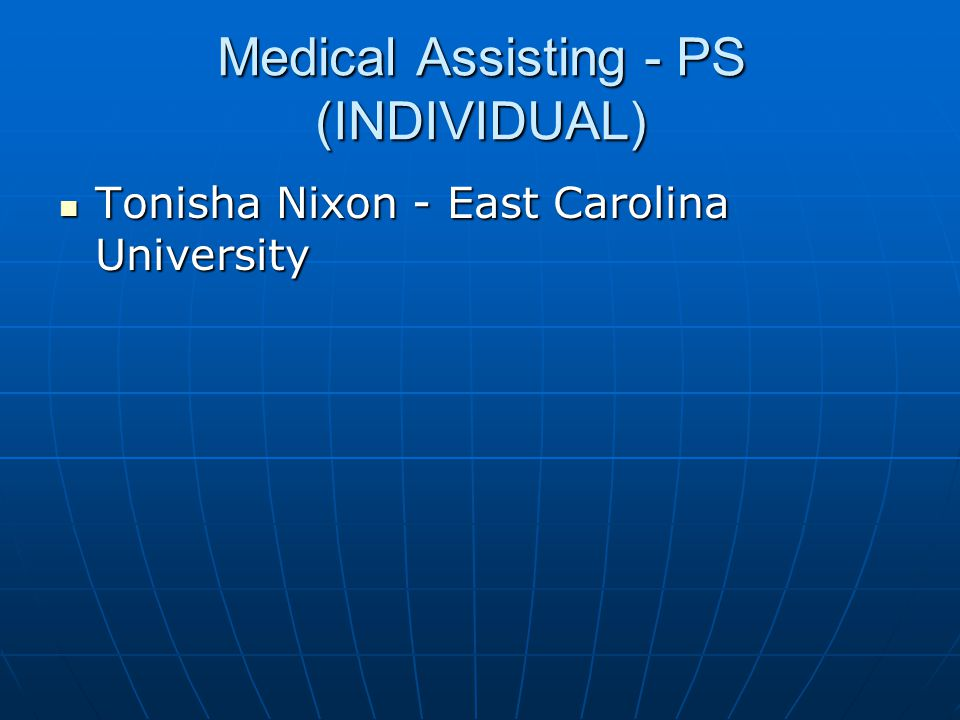 Medical Assisting - PS (INDIVIDUAL)