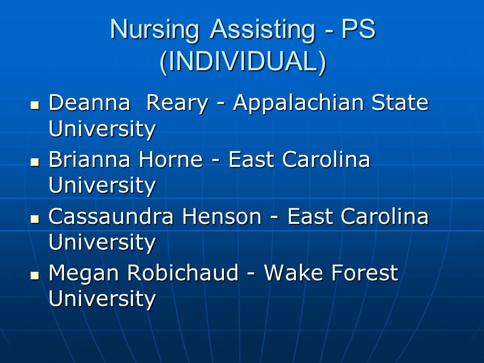 Nursing Assisting - PS (INDIVIDUAL)