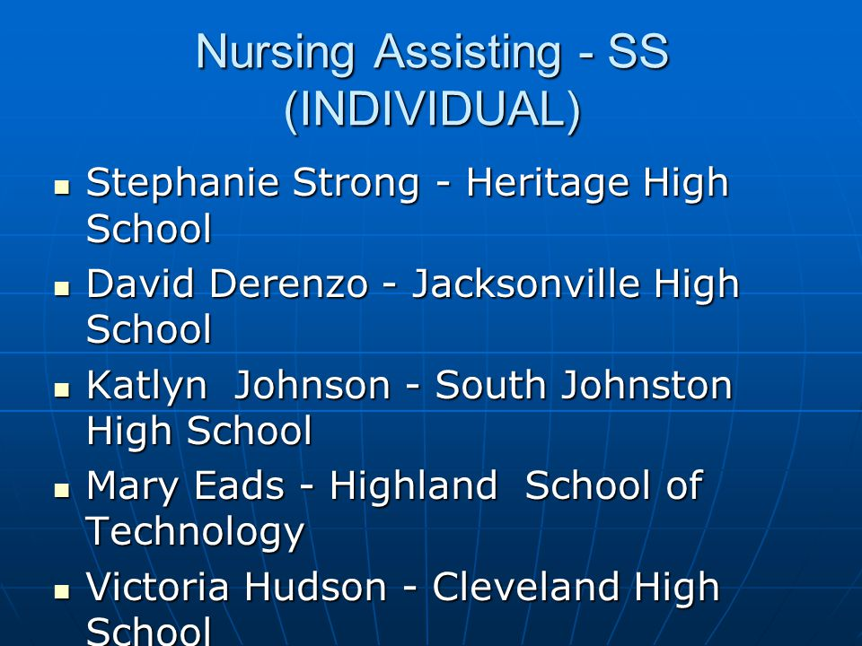 Nursing Assisting - SS (INDIVIDUAL)