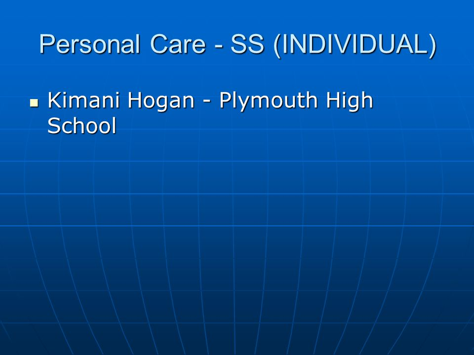 Personal Care - SS (INDIVIDUAL)