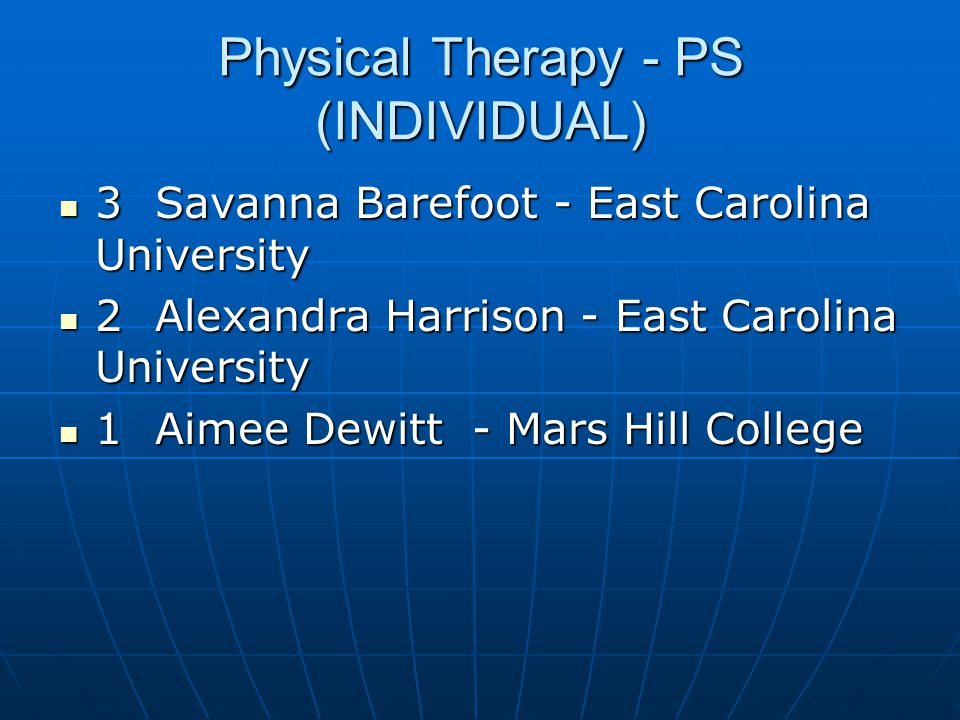 Physical Therapy - PS (INDIVIDUAL)