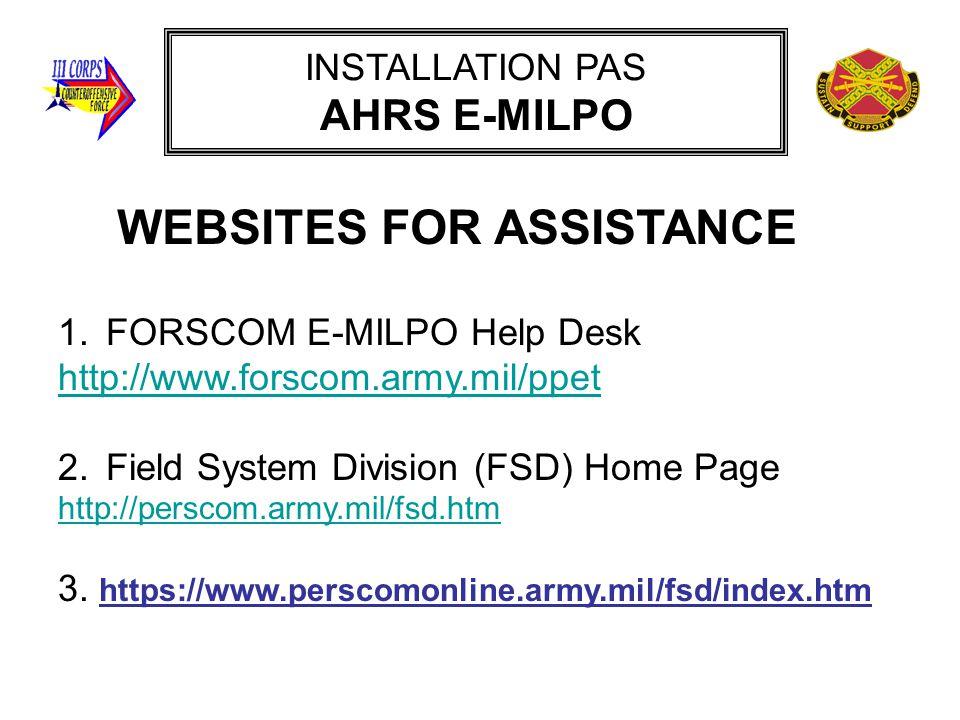 INSTALLATION PAS AHRS E-MILPO