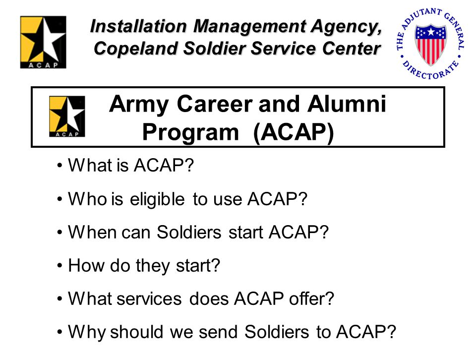 Army Career and Alumni Program (ACAP)