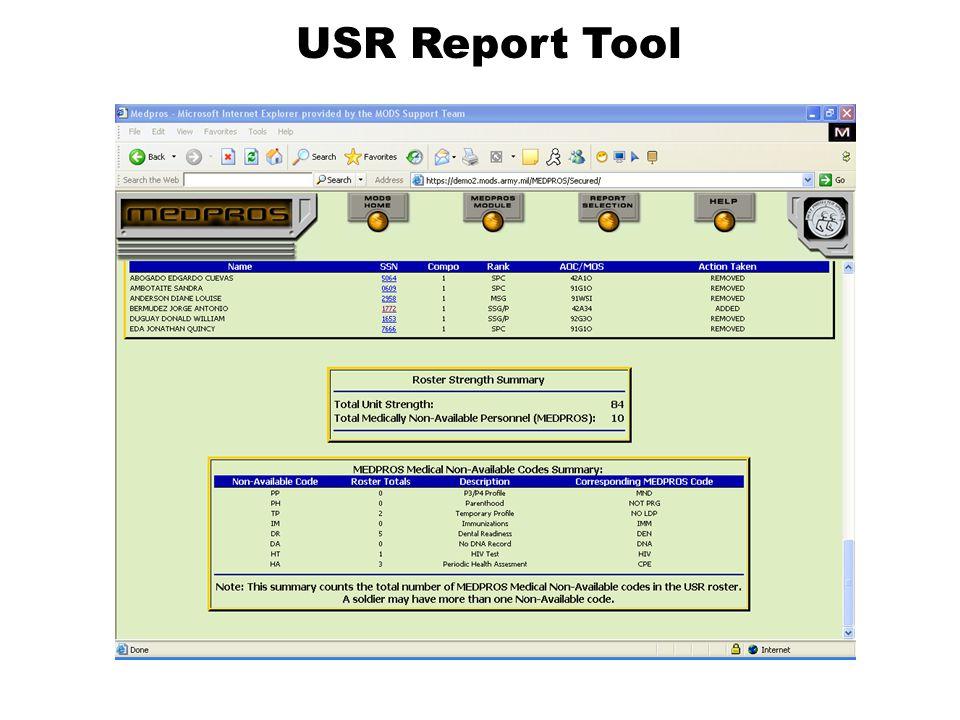 USR Report Tool