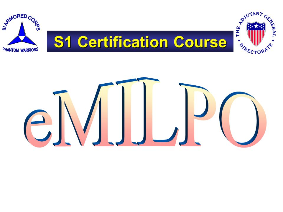 S1 Certification Course
