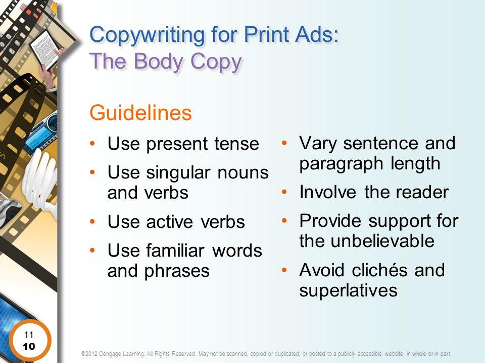 Copywriting for Print Ads: The Body Copy