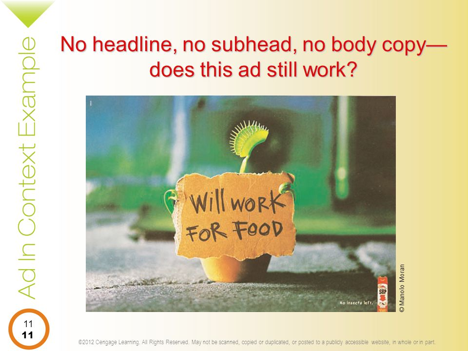 No headline, no subhead, no body copy—does this ad still work