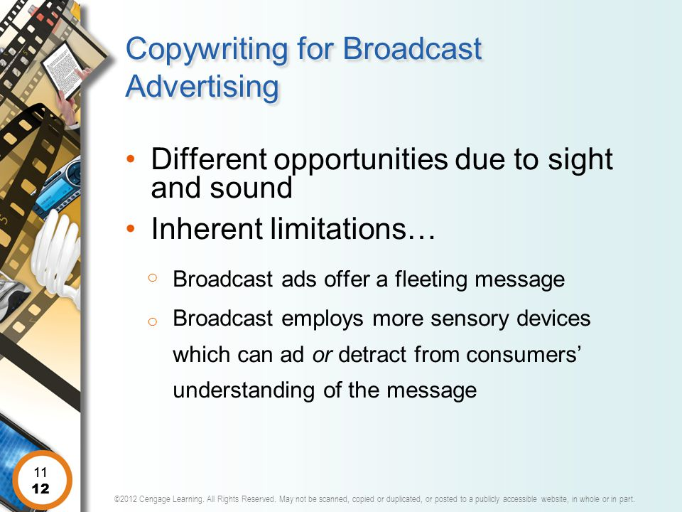 Copywriting for Broadcast Advertising