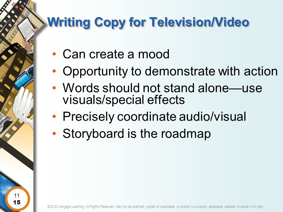 Writing Copy for Television/Video