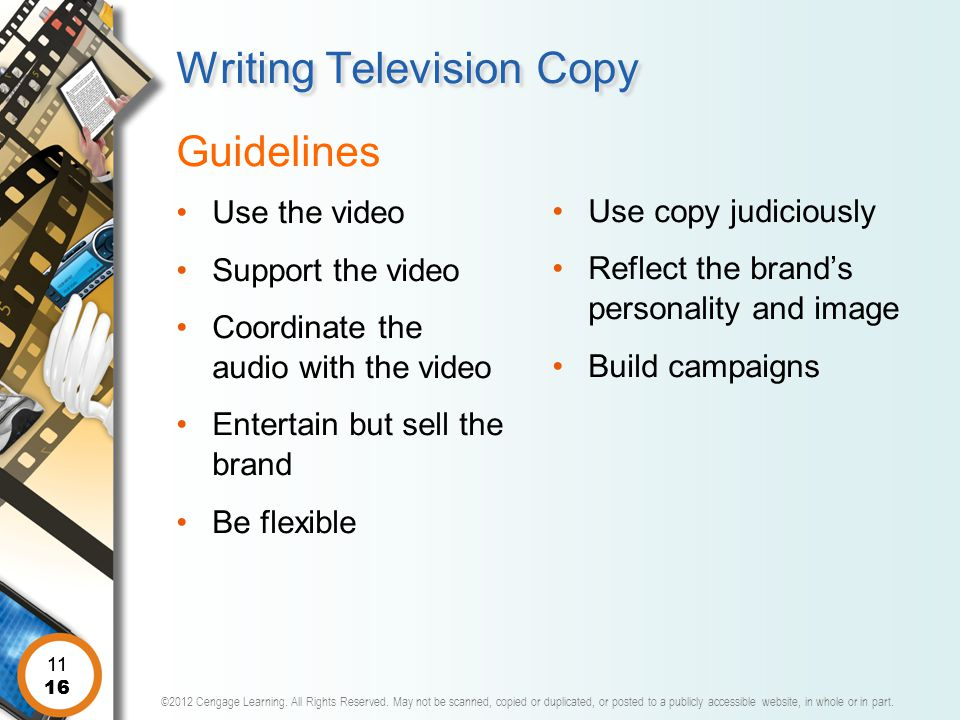 Writing Television Copy