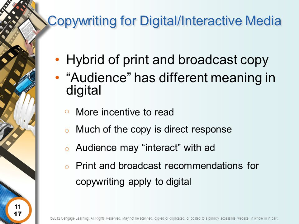Copywriting for Digital/Interactive Media