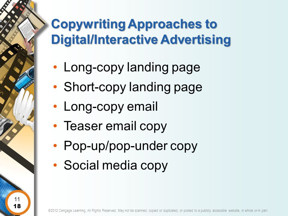 Copywriting Approaches to Digital/Interactive Advertising
