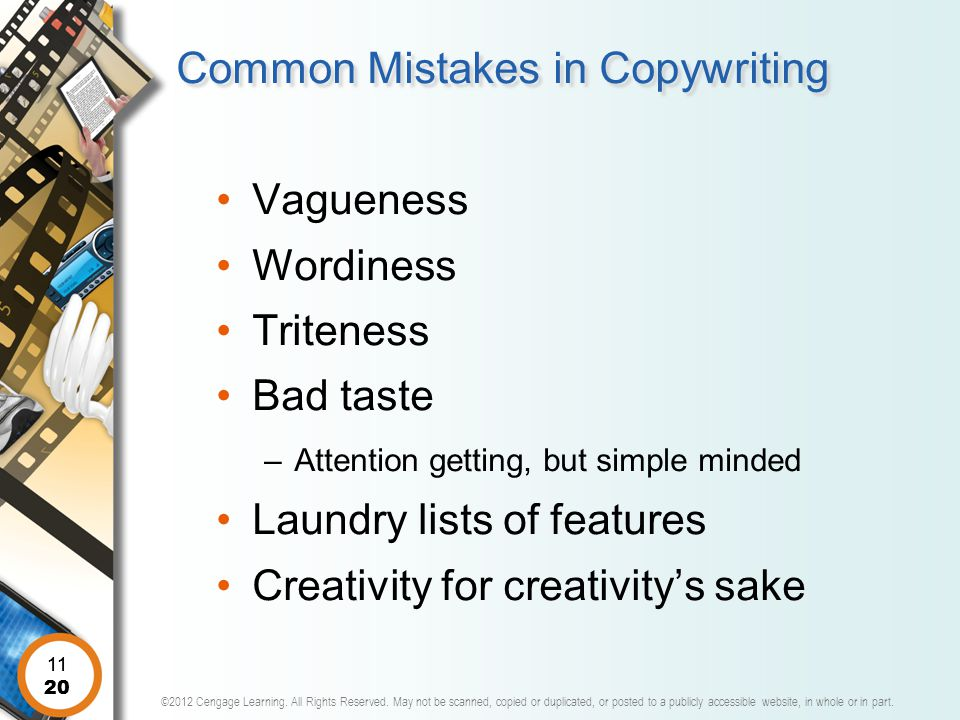 Common Mistakes in Copywriting