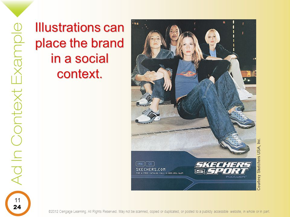 Illustrations can place the brand in a social context.