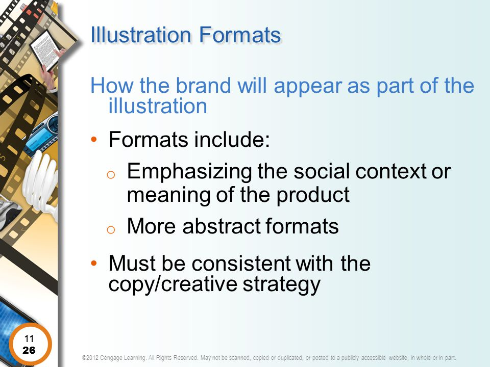 Illustration Formats How the brand will appear as part of the illustration. Formats include: