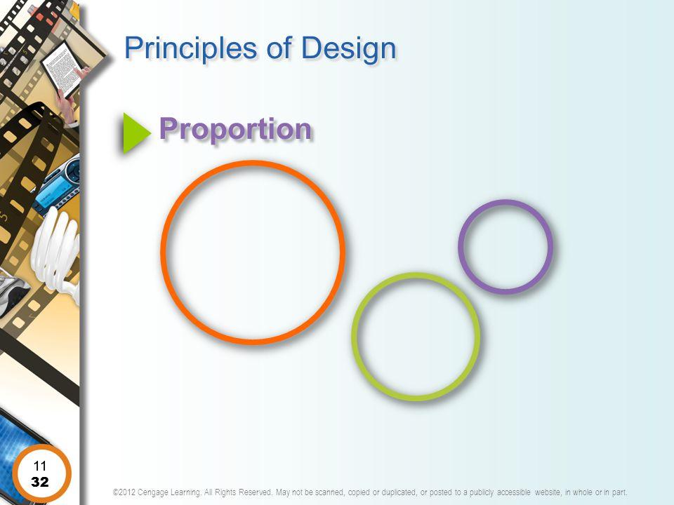 Principles of Design Proportion 11 11 32