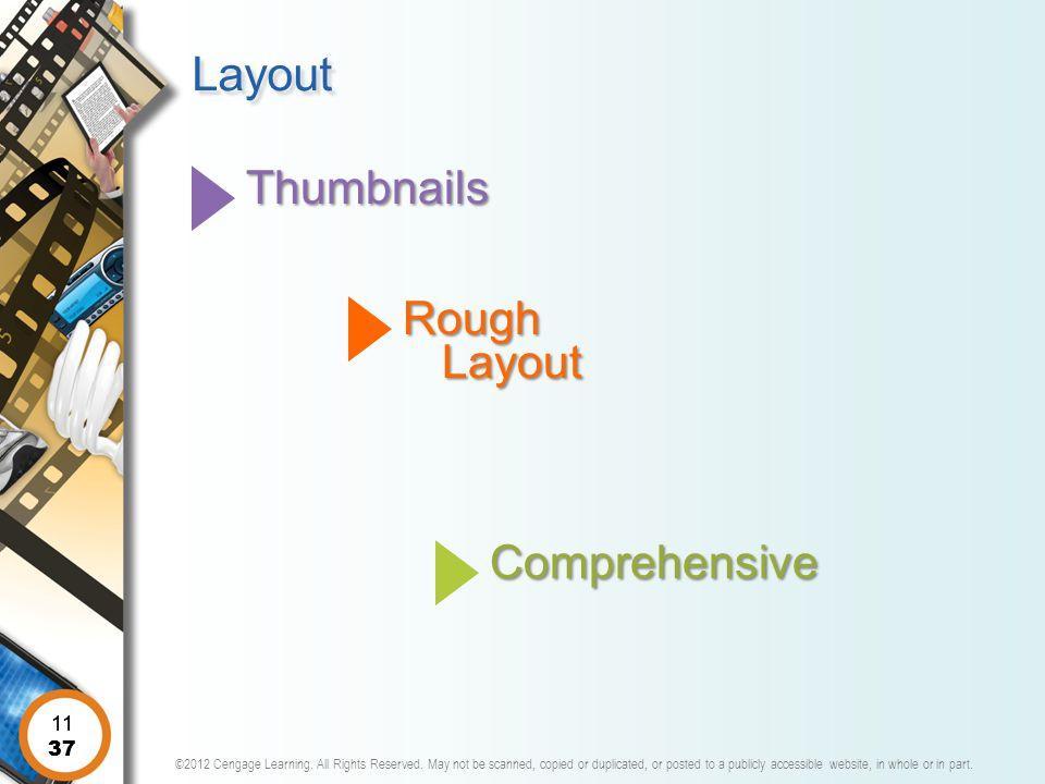 Layout Thumbnails Rough Layout Comprehensive 11 11 37