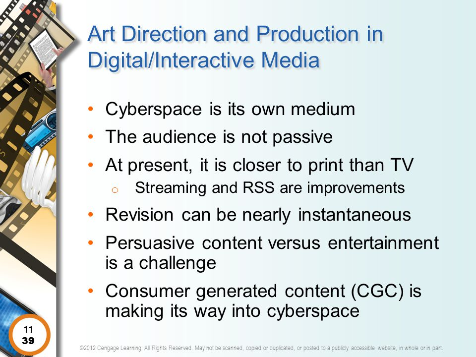 Art Direction and Production in Digital/Interactive Media