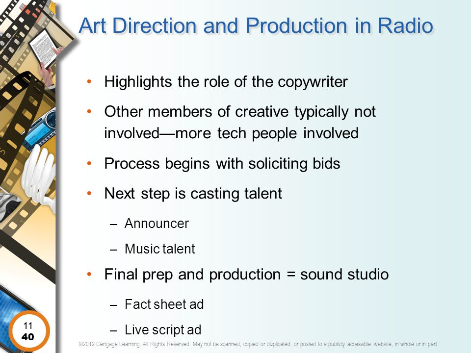 Art Direction and Production in Radio