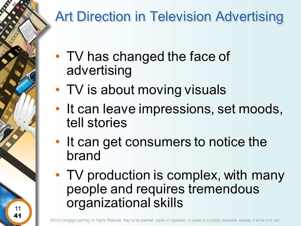 Art Direction in Television Advertising